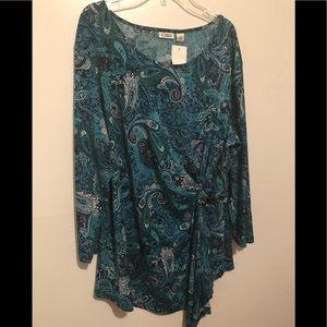 Ladies Multi-blue Print tunic.